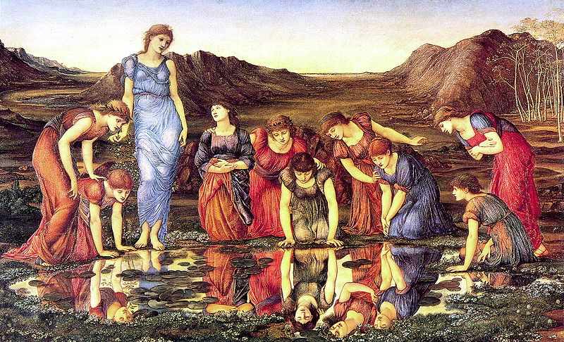 800px-Burne-Jones,_Edward_-_The_Mirror_of_Venus_-_1875_-_hi_res