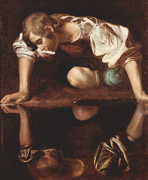 Narcissus by Caravaggio ~ Wikimedia Commons