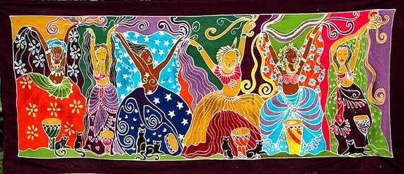 Banner Dancing GoddessesBA037